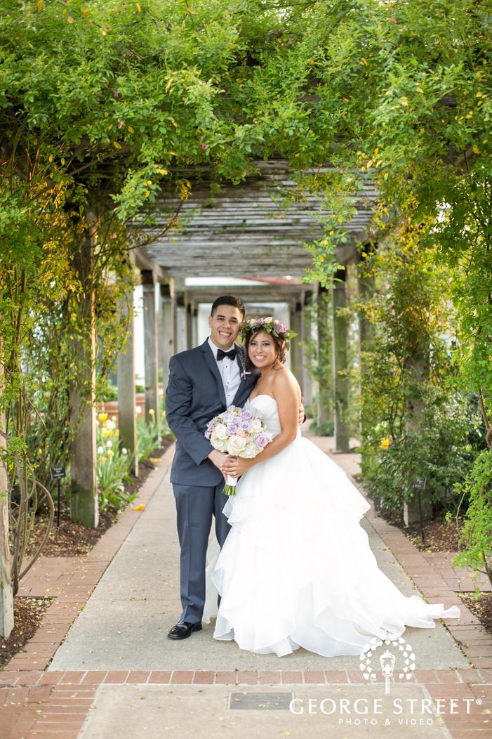 dallas arboretum beautiful outdoor bride and groom wedding portraits