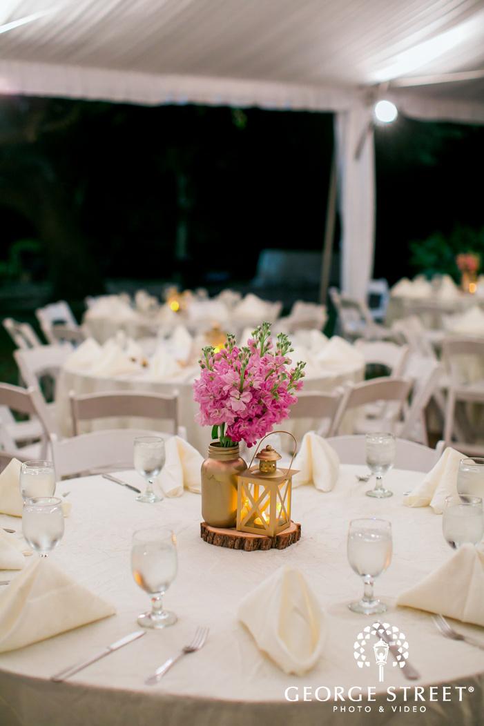 dallas arboretum wedding reception floral table settings