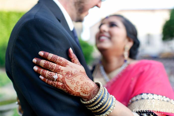 bride and groom wedding portrait henna tattoo