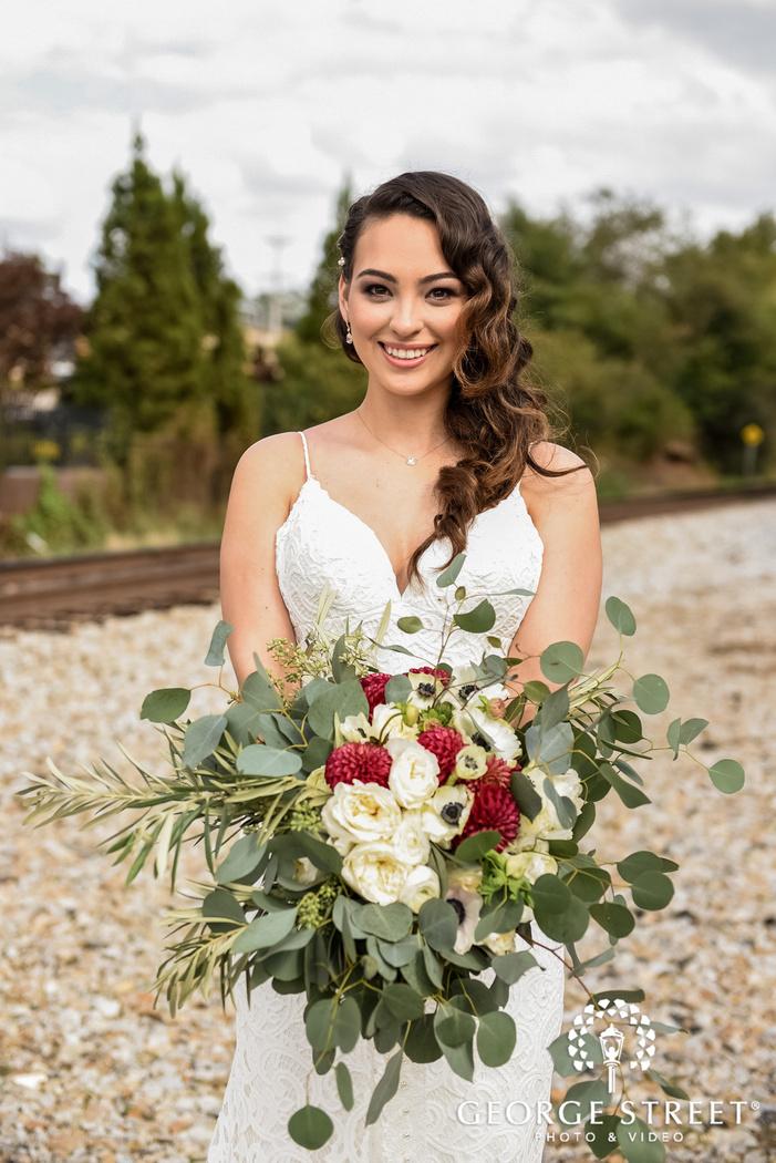 happy bride wedding photography