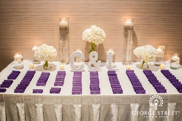 adorable seating plan cards wedding photo