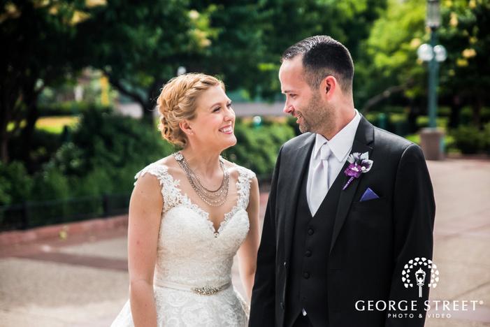 cute bride and groom wedding photos