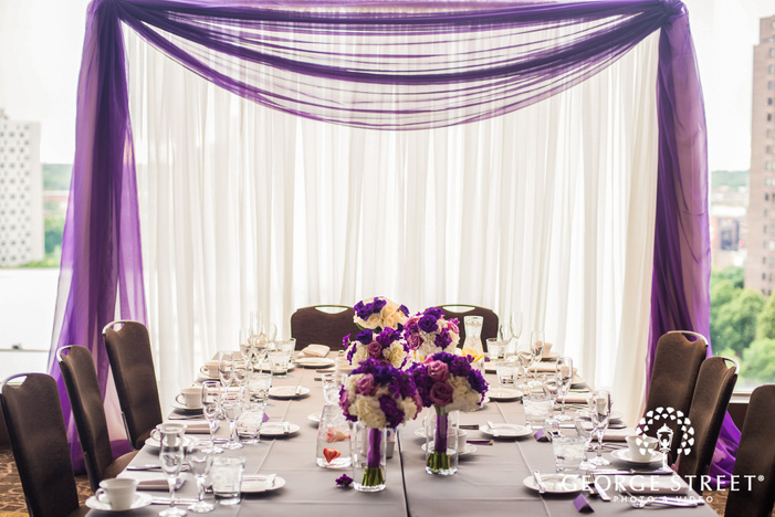 elegant reception table setting wedding photos