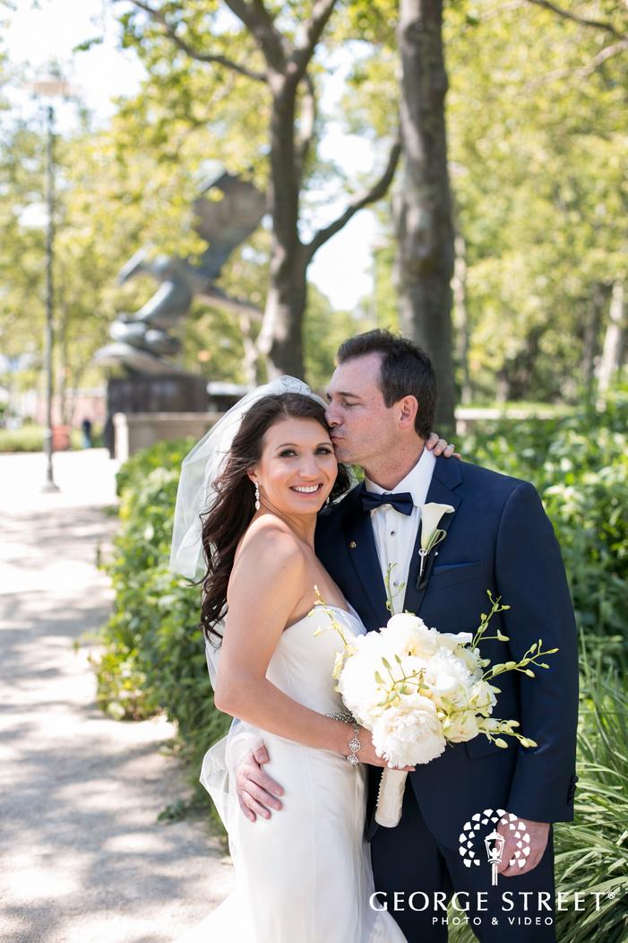 new york battery gardens wedding beautiful outdoor bride and groom portraits