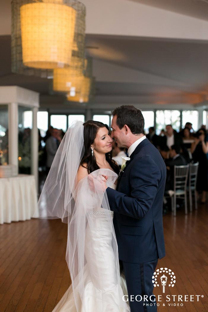 new york battery gardens wedding reception bride and groom first dance