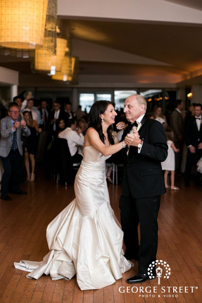new york battery gardens wedding reception father daughter dance