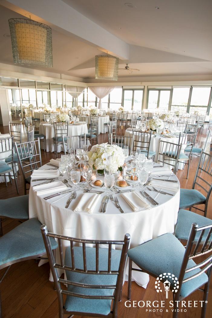 new york battery gardens wedding reception table decor