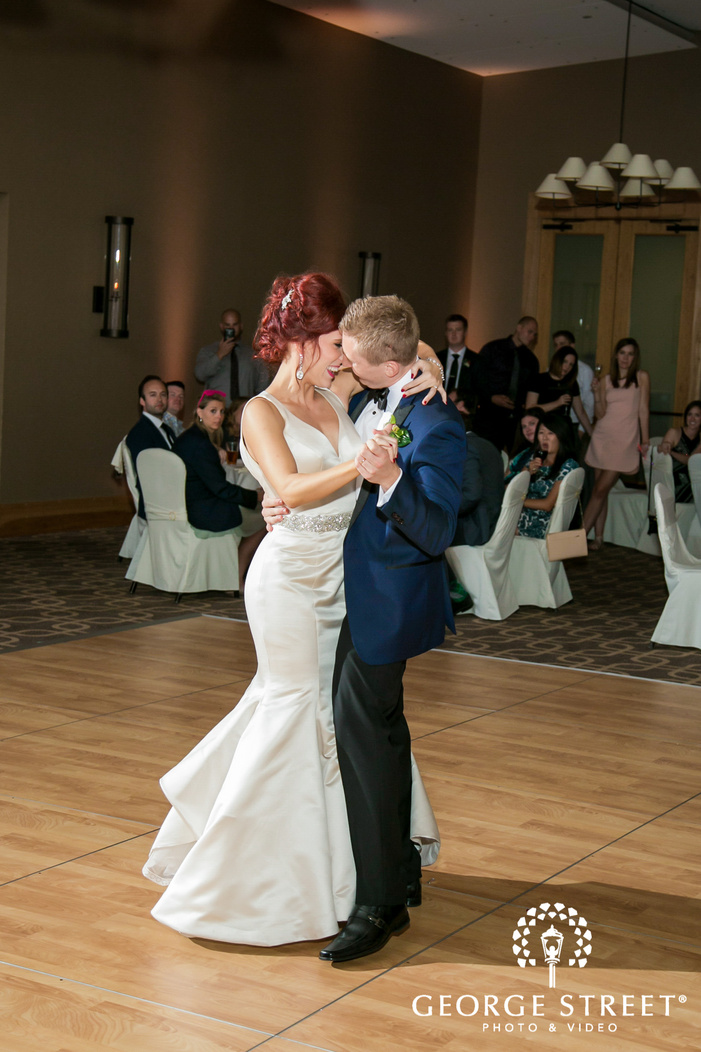 beautiful bride and groom first dance at hazeltine national golf club in minneapolis