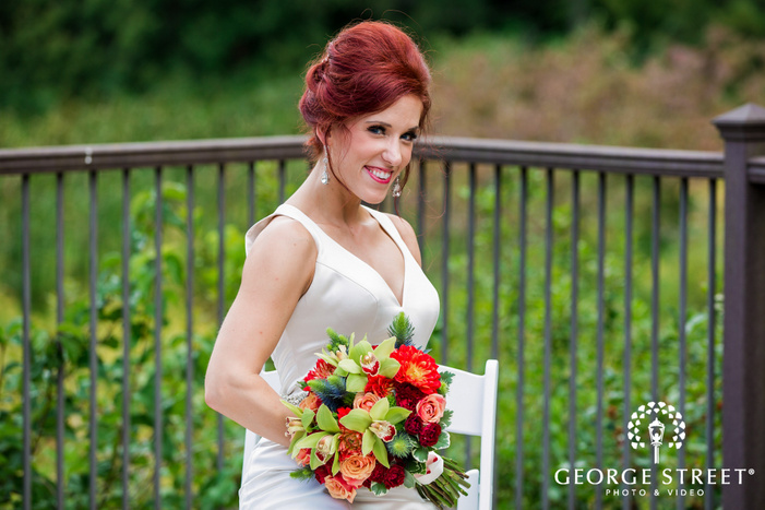 blissful bride with the fence in minneapolis wedding photos