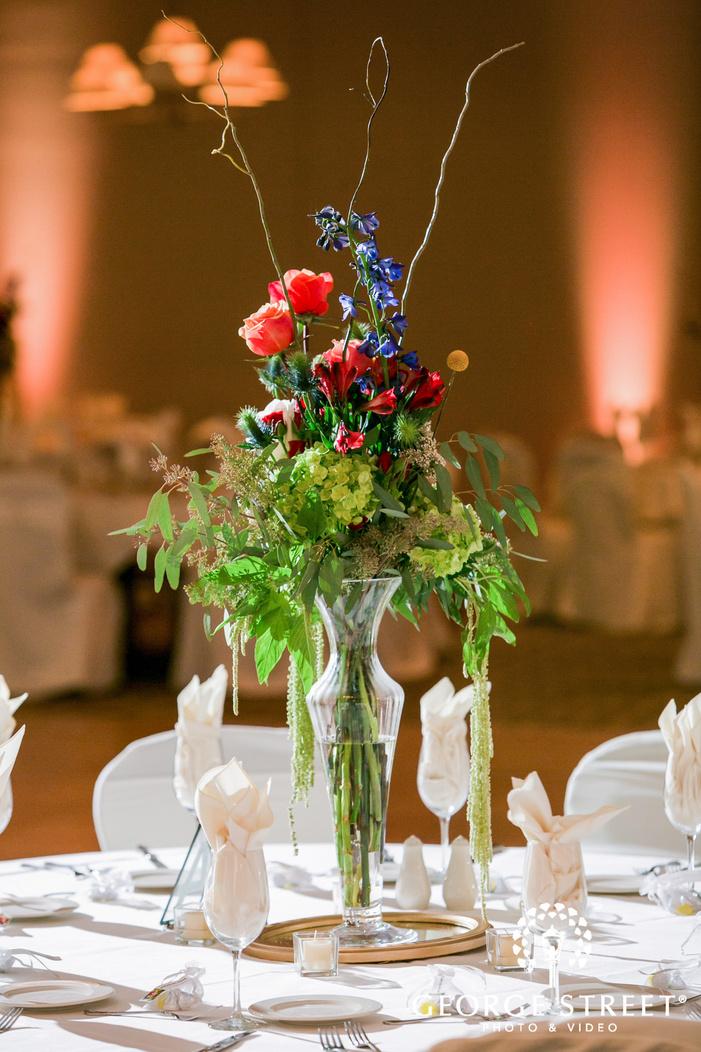 gorgeous reception table details wedding photo