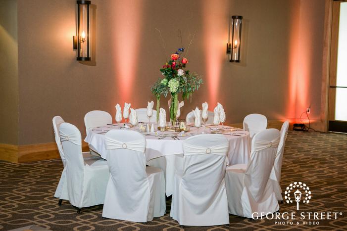 mesmerizing reception tables setup at hazeltine national golf club in minneapolis