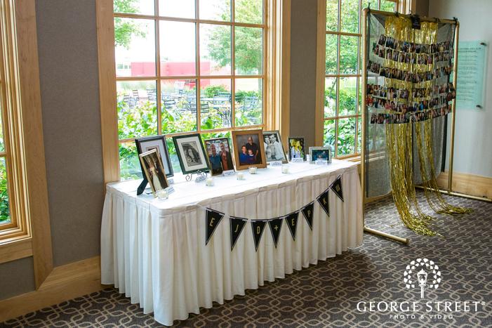 reception hall table decor wedding photos