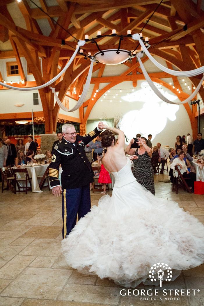 camp lucy austin wedding indoor reception