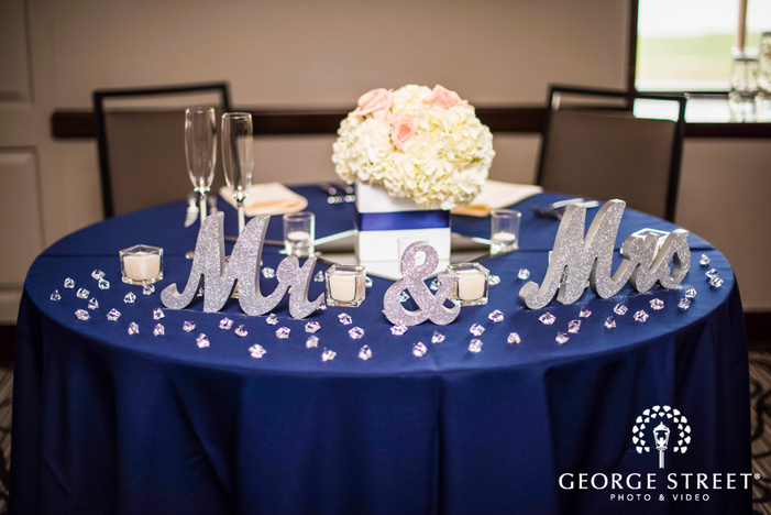 adorable reception table setting details wedding photo