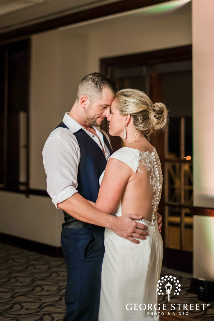 loveable couple first dance wedding photo