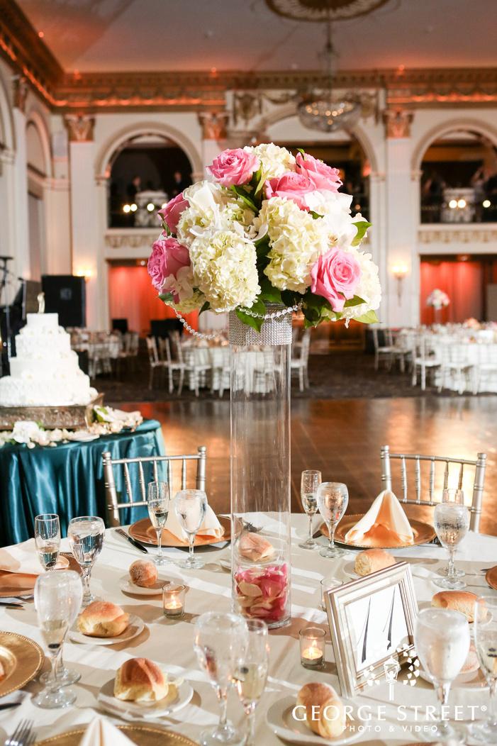 ballroom at the ben indoor wedding reception philadelphia wedding table decor inspiration
