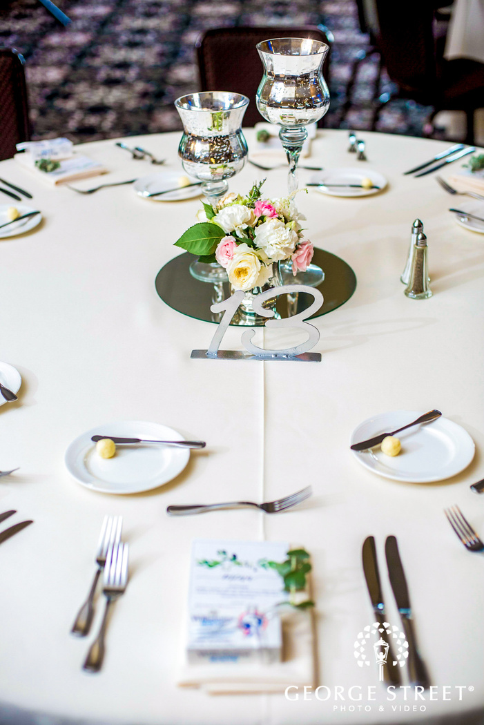 beautiful reception table details golden valley country club minneapolis wedding photos