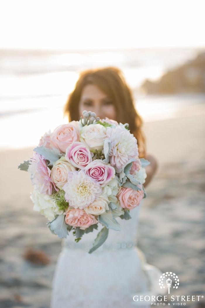 los angeles bridal portrait beach