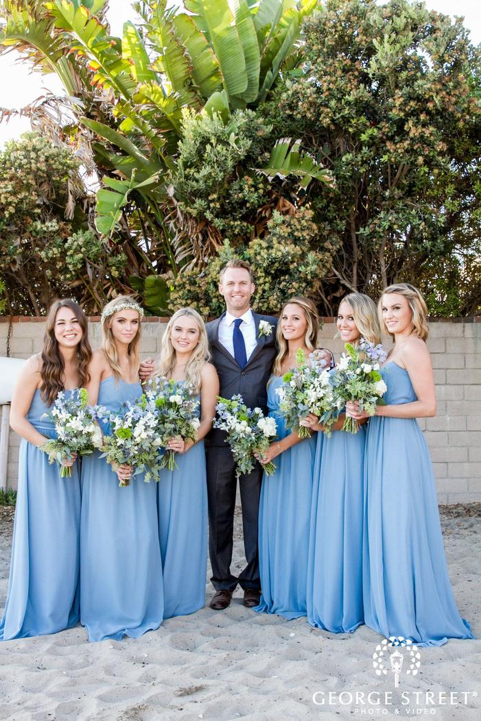 los angeles bridesmaids portrait