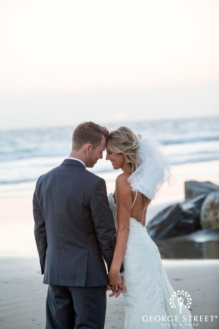 los angeles outdoor beach wedding portraits