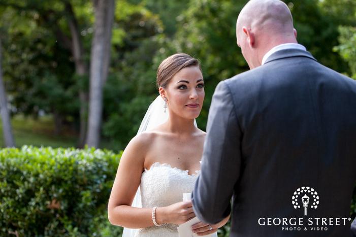 Arlington Hall at Lee Park wedding outdoor couple portraits
