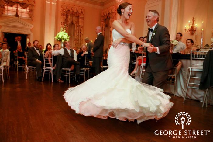 arlington Hall at Lee Park wedding indoor reception father daughter dance