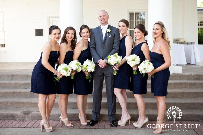 arlington Hall at Lee Park wedding outdoor bridesmaid portraits