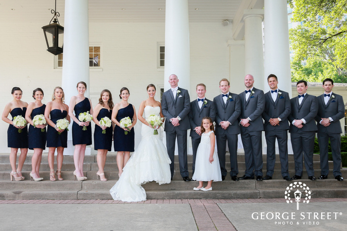 arlington Hall at Lee Park wedding outdoor groomsmen portraits