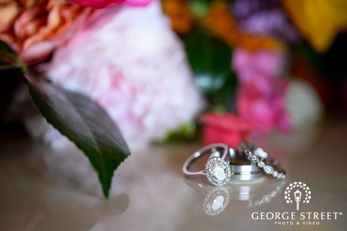 crisp colorful wedding ring detail portrait