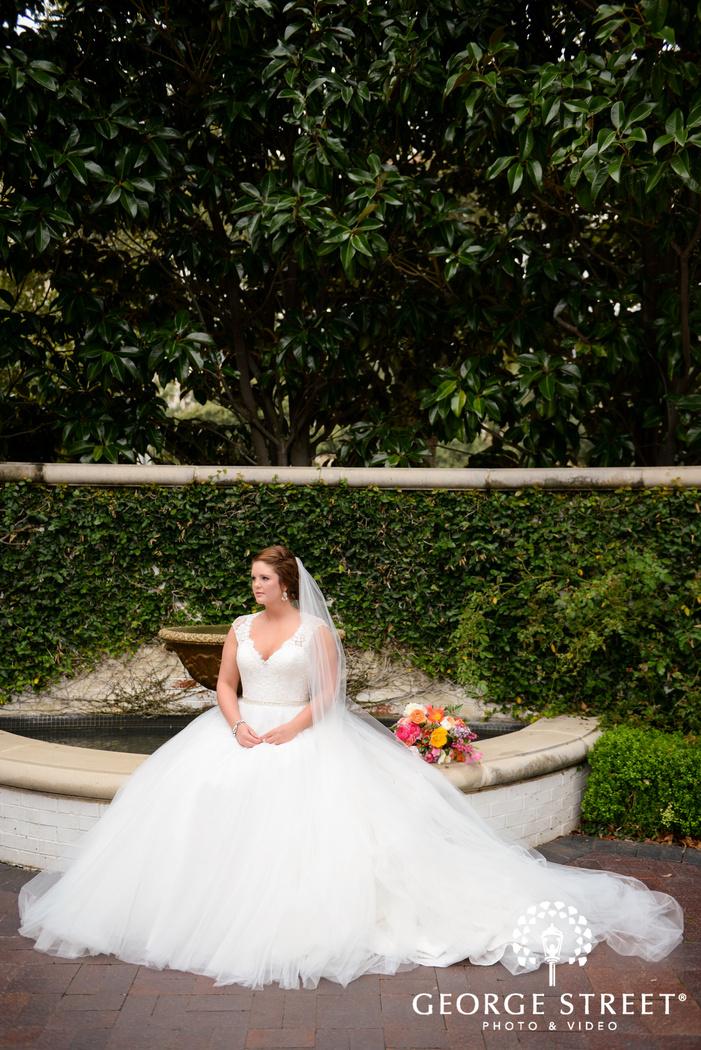 elegant outdoor bridal portrait