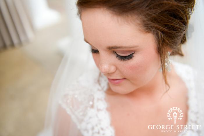 elegant sunny bridal portrait