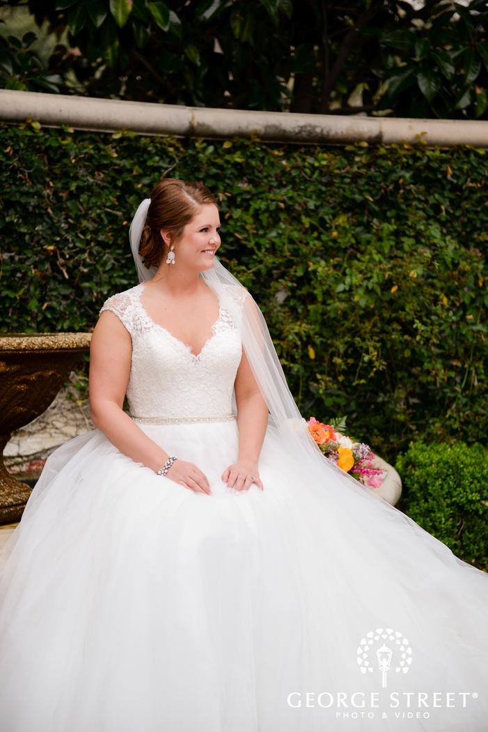 smiling bride airy bridal portrait