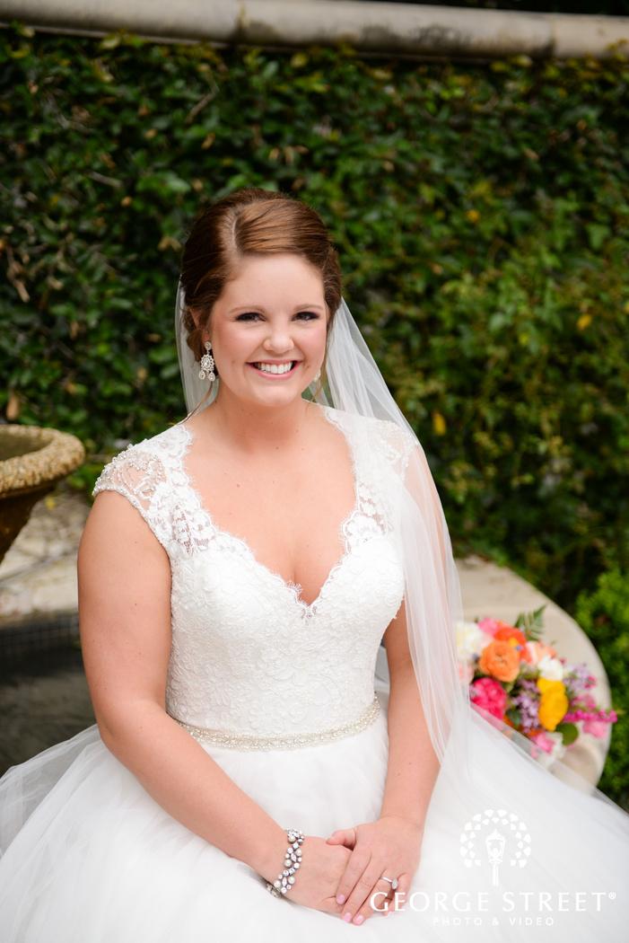 sweet smiling bridal portrait