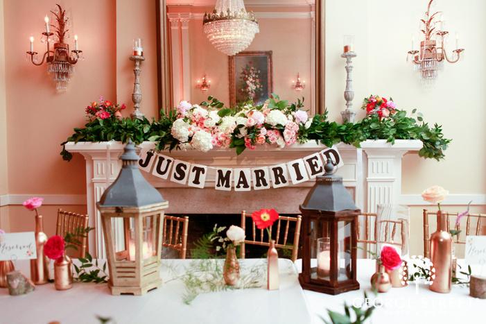 wedding reception just married decor