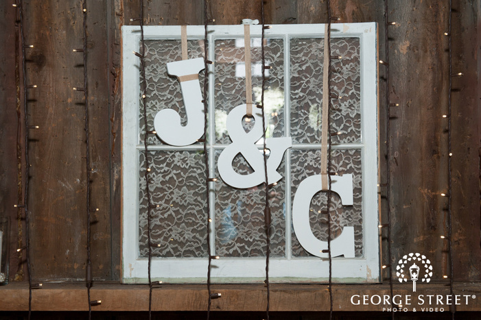 Initials in a Window Frame