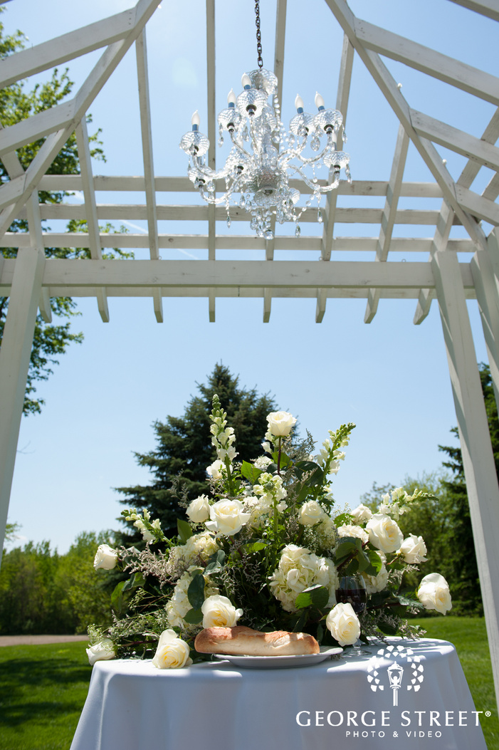 Outdoor Ceremony Location with Flowers