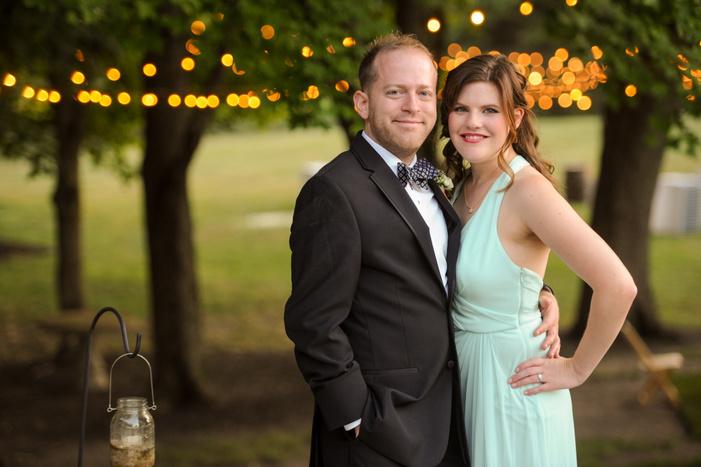 bridesmaid and groomsman portrait