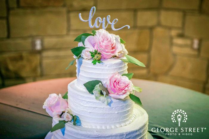 delightful wedding cake topper detail