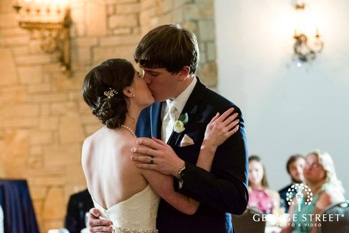 loving bride and groom reception dance