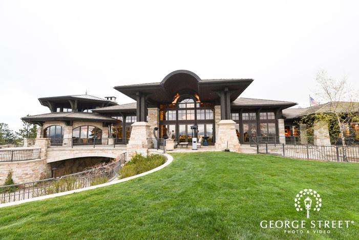 beautiful wedding venue at sanctuary golf course in denver wedding photos