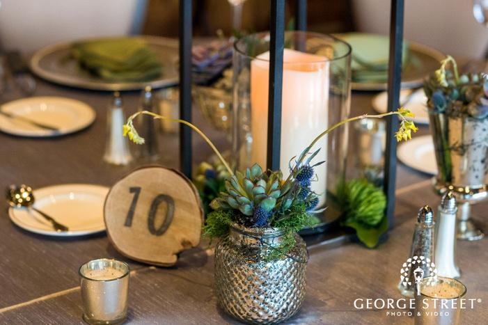elegnat reception hall details wedding photos