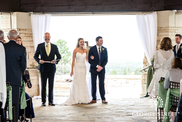 lovely bride and groom vows exchange at wedding altar wedding photos