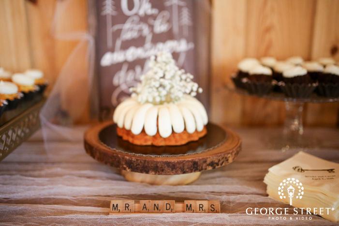 Crystal Springs Houston dessert table bundt cake