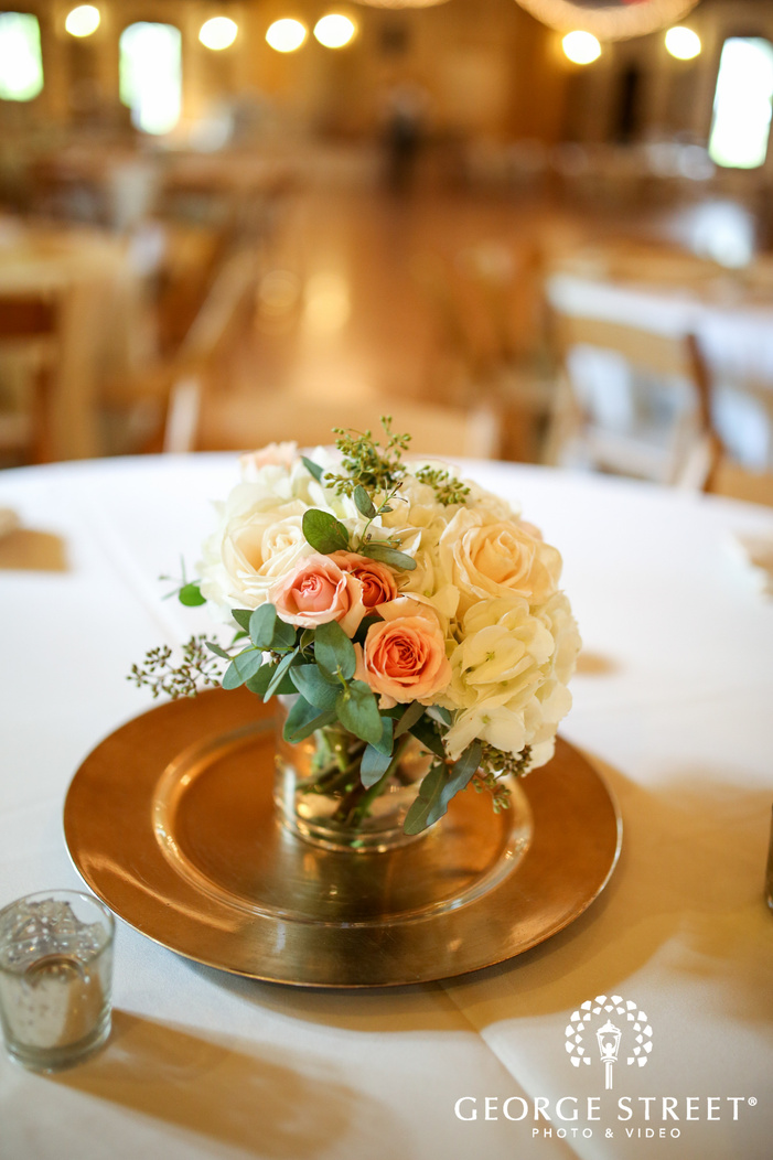 crystal Springs Houston reception wedding flower centerpiece