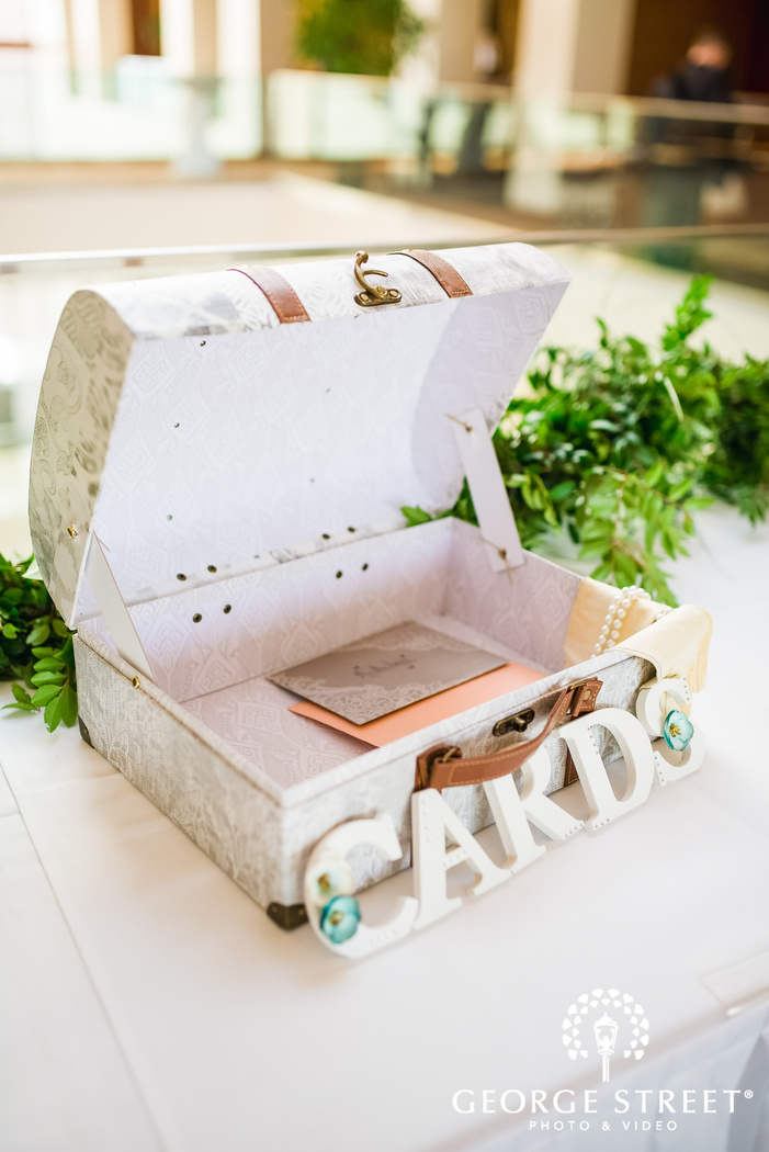 adorable gifts and card table wedding photo