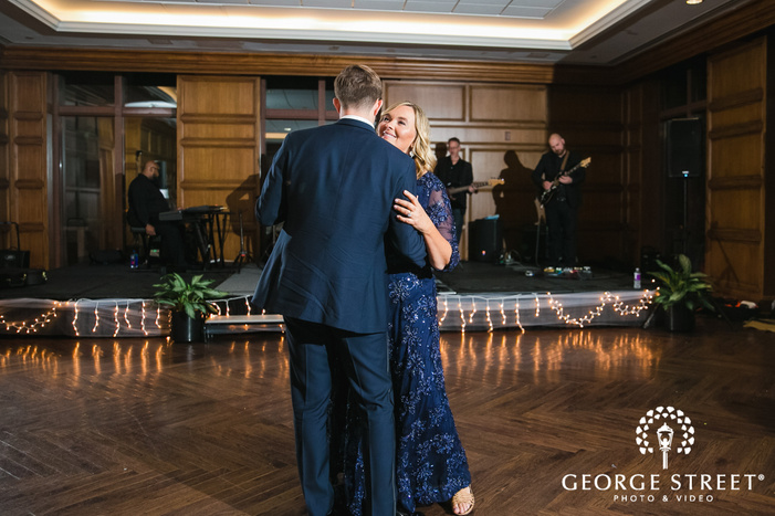 cute groom and mother reception dance wedding photo