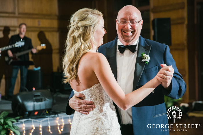 sweet bride and father reception dance wedding photography