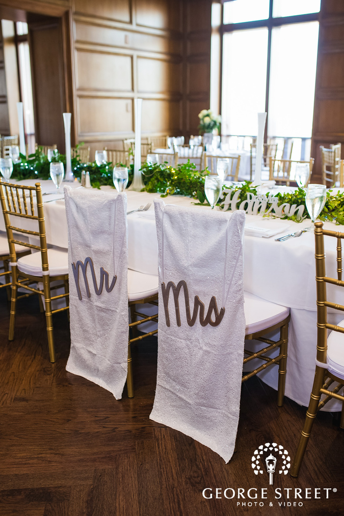 sweet couple reception table details wedding photo