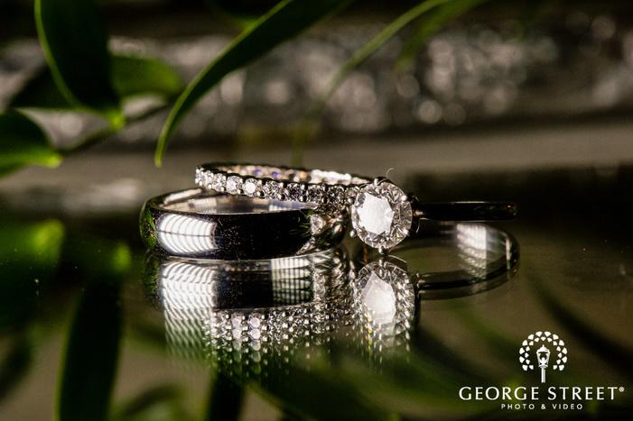 lovely bride and groom wedding rings wedding photo