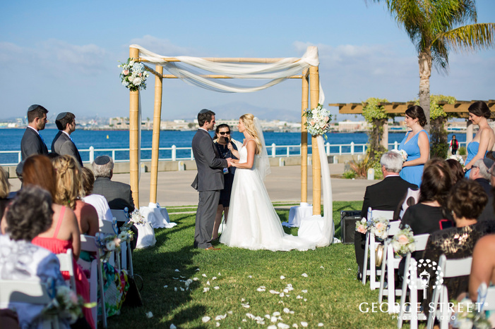 coronado community center beautiful wedding ceremony san diego wedding photos